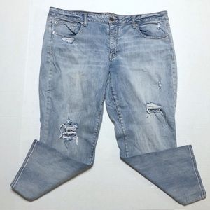American Eagle Distressed Boy Jeans - Short